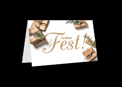"""Motiv: """"Frohes Fest"""""""